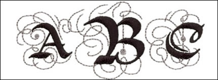Arabesque Monogram Set 3