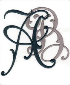 Arabesque Monogram Set 5
